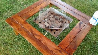 自作囲炉裏テーブルでキャンプを楽しく過ごしませんか?格安ヒノキ材で簡単にDIY!