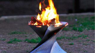 美しいフォルムに心を奪われるオンウェーの聖火焚火台!