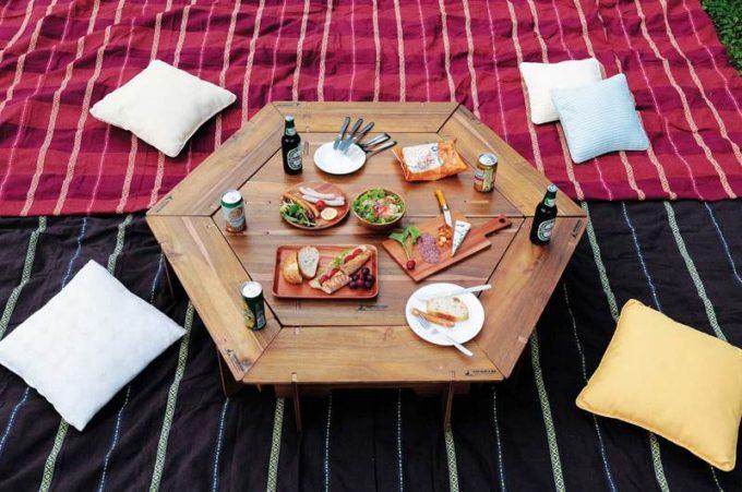 ヘキサグリルテーブルセット+ヘキサセンターテーブル