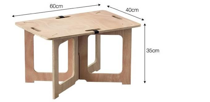 パネル式アウトドアテーブル仕様