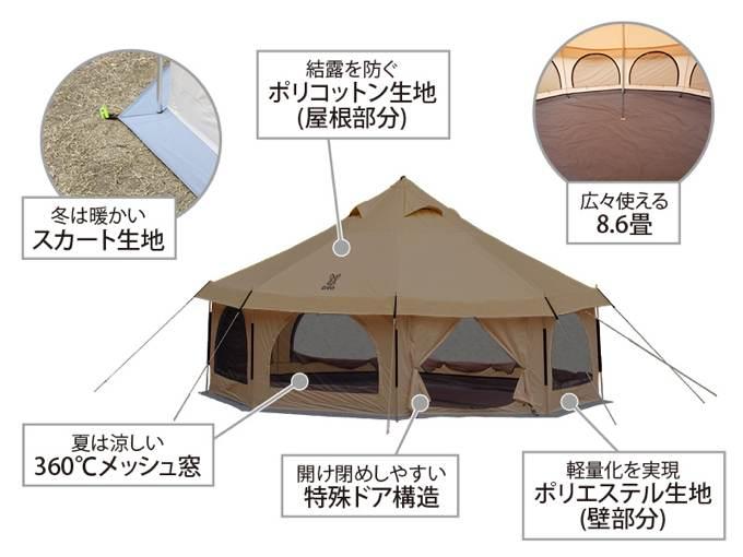 タケノコテント タン7
