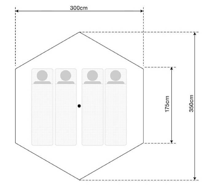 ワンポールテントT/C400-10
