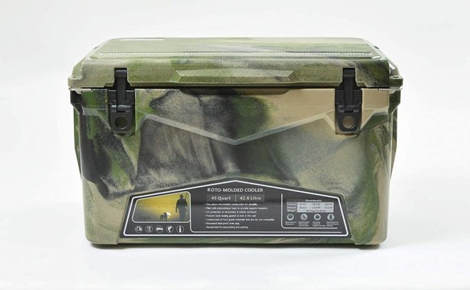 Deelight アイスランドクーラーボックス グリーンカモ 45qt