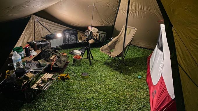 キャンプでウルトラプラスMを使用
