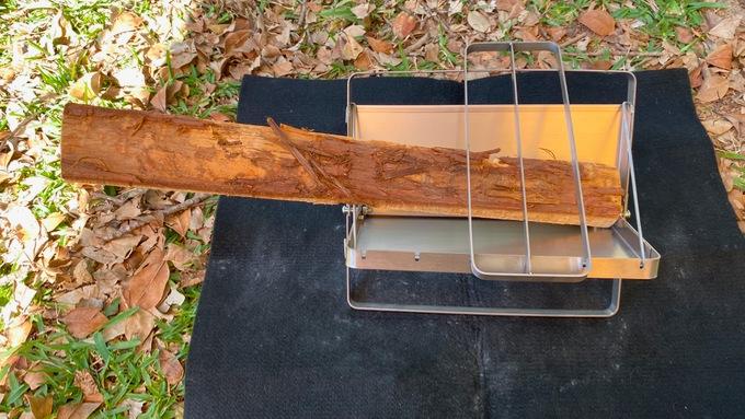 男前ファイアグリルと40cmの薪