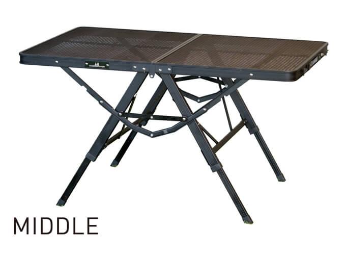 3ハイ&ローテーブル タフメッシュ ミッド