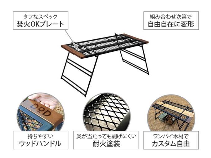 テキーラテーブル 特徴