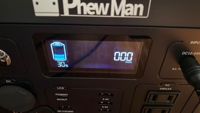 PhewManSmart500 チャージ30%