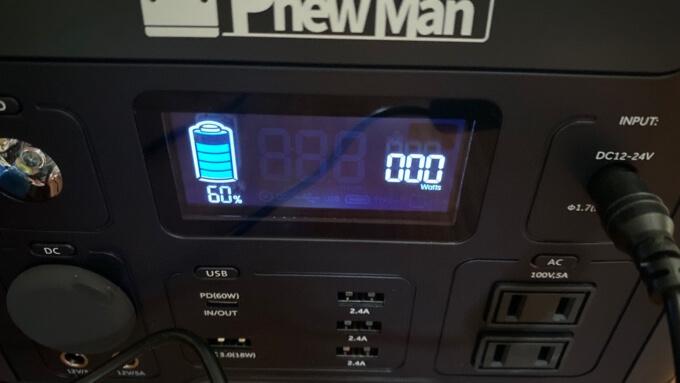 PhewManSmart500 チャージ60%