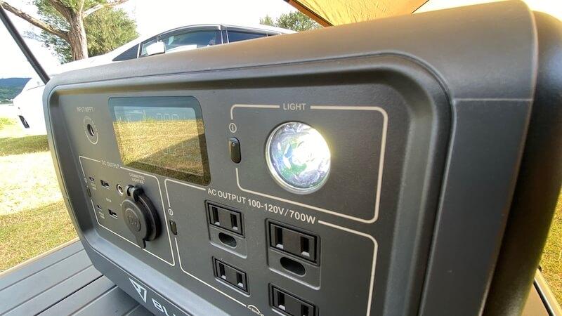 BLUETTI EB70 LED点灯1