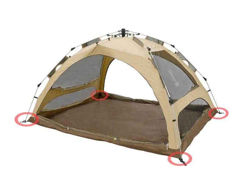 わがやのテント 設営3