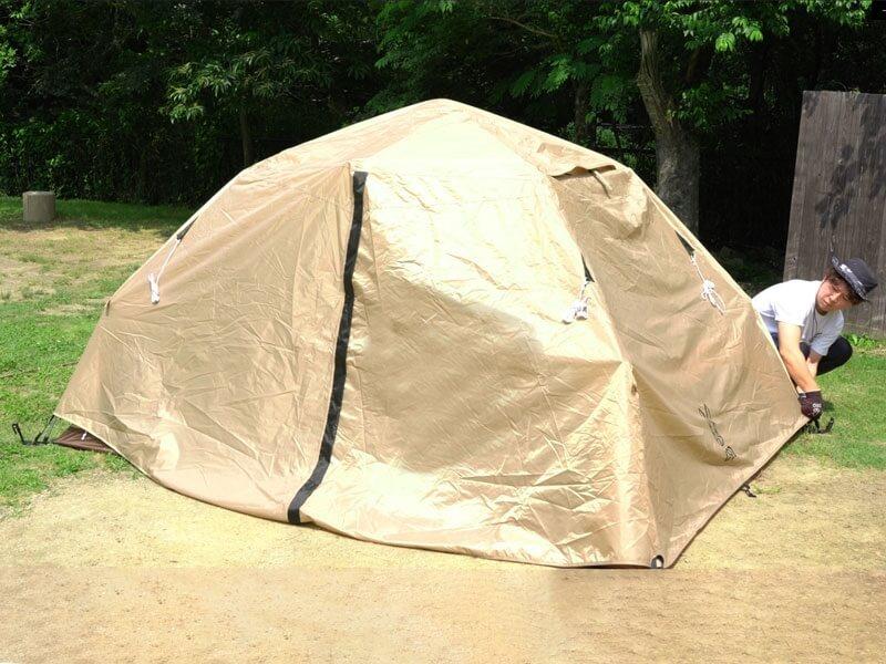 わがやのテント 設営4