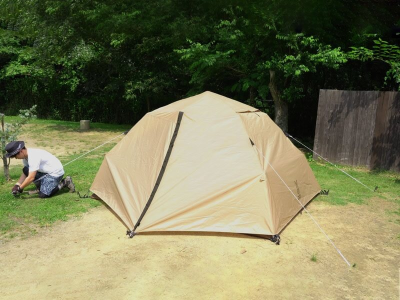 わがやのテント 設営5