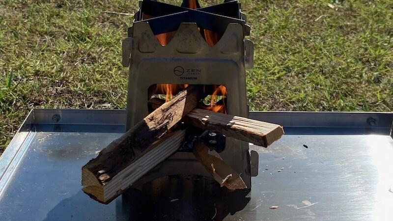 ZEN Camps チタン製ウッドストーブ Fire Garden S 焚き火1